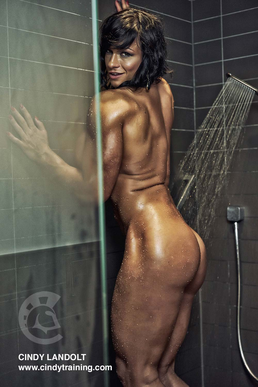 Misty anderson bare naked and wet in the shower